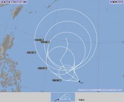 台風20号発生 フィリピン近海