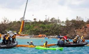 辺野古新基地:埋め立て22日着手 海上作業再開