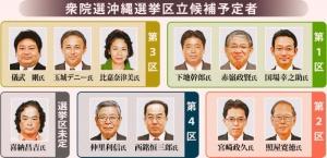師走の総選挙 沖縄4選挙区に11人出馬予定