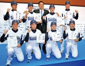 剛腕福地、横浜入り 開幕1軍へ「気持ちで速球」