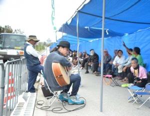 辺野古新基地:長野や鹿児島からも抗議に参加