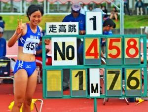 徳本、走り高跳び沖縄新記録 陸上国体選考  陸上の第69回国民体育大会最終選考会は5、6の両日、