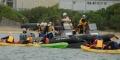 辺野古新基地:反対市民カヌー8隻拘束