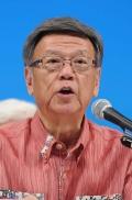 沖縄知事選:翁長氏が出馬正式表明