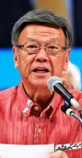 翁長氏「新基地造らせない」知事選出馬正式表明