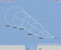 台風18号発生、トラック諸島を西進
