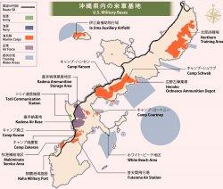 米軍専用施設面積の74%が沖縄に集中
