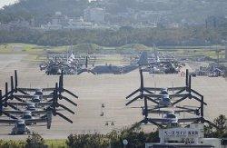 米軍普天間飛行場に配備されているオスプレイ