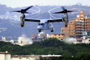 【資料写真】米軍普天間飛行場のオスプレイ