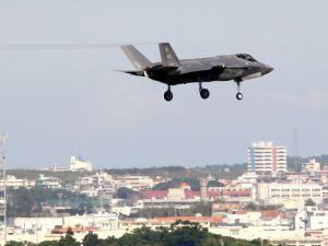 (資料写真)暫定配備された最新鋭ステルス戦闘機F35A=11月8日午前、米軍嘉手納基地
