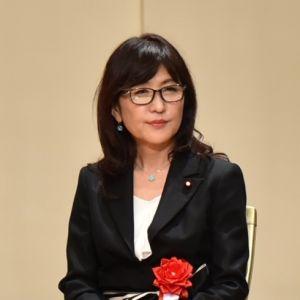 (資料写真)北部訓練場返還式で登壇する稲田朋美防衛大臣=2016年12月22日