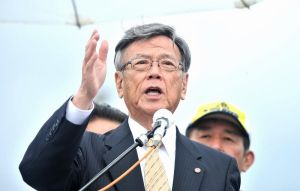 辺野古の集会で埋め立て承認撤回を初めて明言した翁長知事
