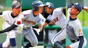 高校野球沖縄大会準決勝に進出した4強校の選手たち