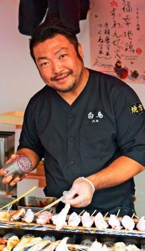 「沖縄に地鶏の食文化を根付かせたい」と語る大谷明正さん=6日、東京・丸の内