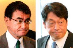 (左)河野太郎氏(右)小野寺五典氏