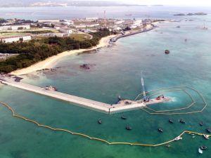 (資料写真)新基地建設が着々と進む米軍キャンプ・シュワブ沿岸=6日、名護市辺野古