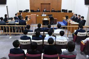 うるま市女性殺害事件の判決公判が開かれた那覇地裁204号法廷=1日午後(代表撮影)