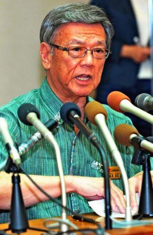 翁長雄志知事は、辺野古問題の節目で記者会見を開き、自らの言葉で語ってきた=9月16日、県庁